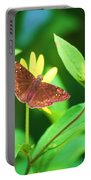 Moth On Yellow Portable Battery Charger