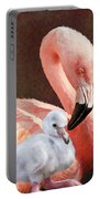 Mother And Baby Flamingo Portable Battery Charger