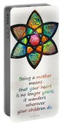 Mother Mom Art - Wandering Heart - By Sharon Cummings Portable Battery Charger