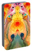 Mother Nature - Abstract Goddess Art By Sharon Cummings Portable Battery Charger