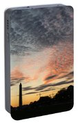 Mother Nature Painted The Sky Over Washington D C Spectacular Portable Battery Charger
