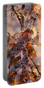 Mother Nature's Christmas Decorations - Golden Oak Leaves Jewels Portable Battery Charger
