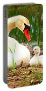 Mother Swan And Baby Portable Battery Charger