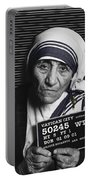 Mother Teresa Mug Shot Portable Battery Charger