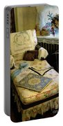 Mother's Chintz Chaise In The Corner Portable Battery Charger by RC deWinter