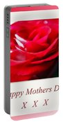 Mothers Day A Red Rose Portable Battery Charger