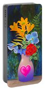 Mothers Day Bouquet Portable Battery Charger