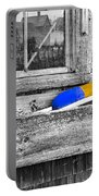 Motif Number One Sunrise Reflections Bw Portable Battery Charger