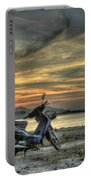 Motorbike At Sunset Portable Battery Charger
