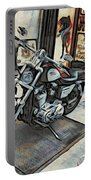 Motorcycle At Philadelphia Eddies Portable Battery Charger