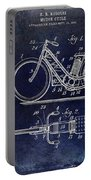 1903 Motorcycle Patent Blue Portable Battery Charger