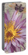 Moulin Floral 1 Portable Battery Charger by Debbie DeWitt
