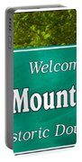 Mount Airy Sign Nc Portable Battery Charger