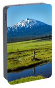 Mount Bachelor And Meadow Portable Battery Charger