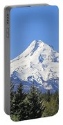 Mount Hood Mountain Oregon Portable Battery Charger by Jennie Marie Schell