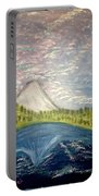 Mount Hood Night Sky Portable Battery Charger