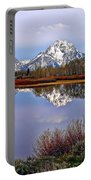 Mount Moran And Jackson Lake Portable Battery Charger