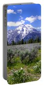 Mount Moran Wildflowers Portable Battery Charger