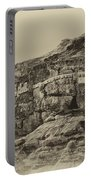 Mount Of The Temptation Monestary Jericho Israel Antiqued Portable Battery Charger