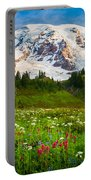 Mount Rainier Flower Meadow Portable Battery Charger