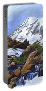 Mount Rainier From Edith Creek Portable Battery Charger