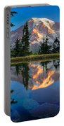 Mount Rainier From Tatoosh Range Portable Battery Charger