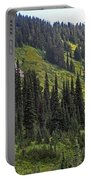 Mount Rainier Ridges And Fir Trees.. Portable Battery Charger