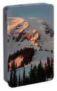 Mount Rainier Sunset Glow Portable Battery Charger