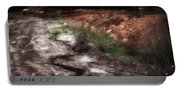 Mount Trashmore - Series Iv - Painted Photograph Portable Battery Charger