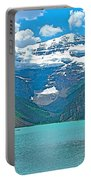Mount Victoria Rises Above Lake Louise In Banff Np-alberta Portable Battery Charger