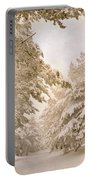 Mountain Adventure In The Snow Portable Battery Charger