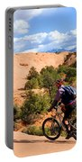Mountain Biking Moab Slickrock Trail - Utah Portable Battery Charger