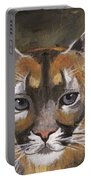 Mountain Cat Portable Battery Charger by Jamie Frier