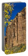 Mountain Cliffs At Zion Portable Battery Charger