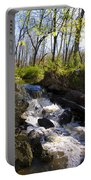 Mountain Creek In Spring Portable Battery Charger