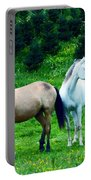 Mountain Horses Grazing  Portable Battery Charger