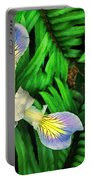 Mountain Iris And Ferns Portable Battery Charger