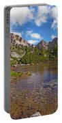 Mountain Lake In The Dolomites Portable Battery Charger