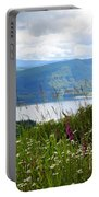 Mountain Lake Viewpoint Portable Battery Charger by Carol Groenen