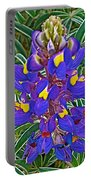 Mountain Lupine In Ancient Incan Pisac In Andes Mountains Above Sacred Valley-peru   Portable Battery Charger