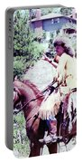 Mountain Man On A Horse Portable Battery Charger