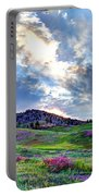 Mountain Meadow Of Flowers Portable Battery Charger