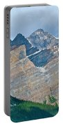 Mountain Peaks From Bow Summit Along Icefield Parkway In Alberta Portable Battery Charger