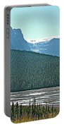 Mountain Peaks From Icefields Parkway-alberta Portable Battery Charger