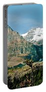 Mountain Peaks From Plain Of Six Glaciers Trail In Banff Np-albe Portable Battery Charger