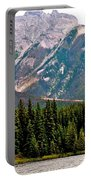 Mountain Peaks Over Johnson Lake In Banff Np-alberta Portable Battery Charger