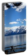 Mountain Reflection On Jenny Lake Portable Battery Charger by Dan Sproul