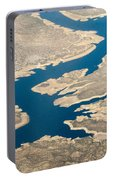 Mountain River From The Air Portable Battery Charger