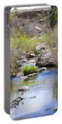 Mountain Stream In Castlewood Canyon State Park Portable Battery Charger