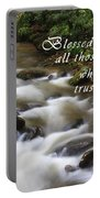 Mountain Stream With Scripture Portable Battery Charger